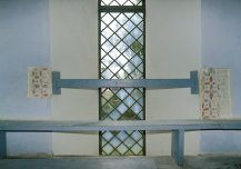 Koeru kiriku aknaid ümbritsev maaling