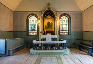Hästi restaureeritud kunstimälestise kategooria laureaadiks valiti eelmisel aastal Nõva kiriku pabervitraažide restaureerimine