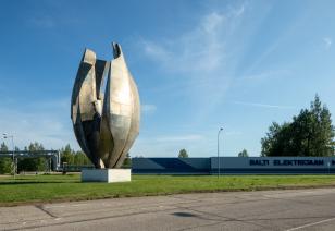 """Monument """"Energia"""" Narvas, autor Riho Kuld"""
