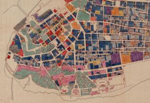 Pärnu vanalinna detailplaneerimise korrektuur. Uurimistööd ja ettepanekud. Graafiline osa. Köide IV, leht 9. Leidandmed: ERA.T-76.1.6125