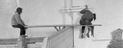 Valjala kirik 1970ndatel. Foto Boris Mäemets