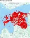 Mälestised Eestis. Kaart Muinsuskaitseameti arhiivist